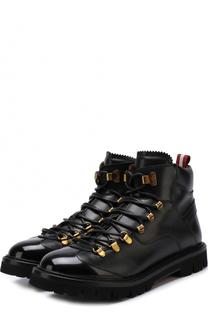 Кожаные ботинки на шнуровке Bally