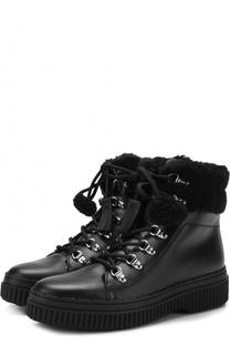Замшевые ботинки с внутренней отделкой из овчины Tod's Tods
