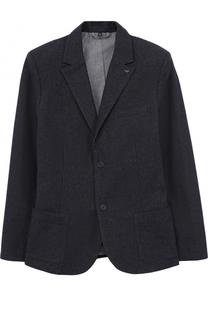 Хлопковый пиджак на двух пуговицах Armani Junior