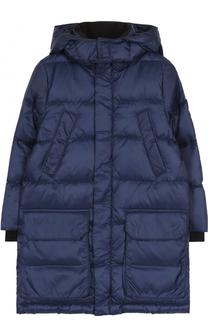 Пуховое пальто с капюшоном Ea 7