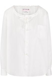 Хлопковая блуза с круглым вырезом Comme des Garcons GIRL