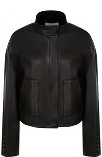 Кожаная куртка свободного кроя с воротником-стойкой 3.1 Phillip Lim