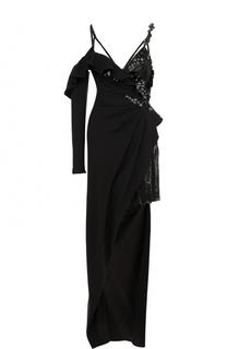 Мини-платье асимметричного кроя Versace