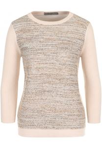 Пуловер из смеси шерсти и кашемира с укороченным рукавом D.Exterior