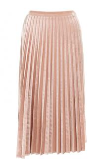 Плиссированная бархатная юбка-миди D.Exterior