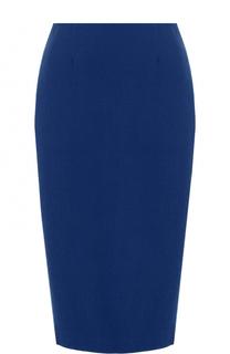 Однотонная шерстяная юбка-миди Weill