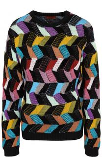 Шерстяной пуловер с круглым вырезом Missoni