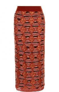 Шерстяная юбка-миди с широким поясом Missoni
