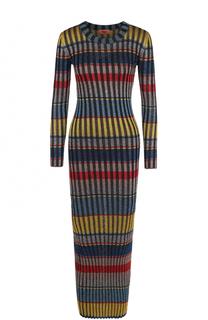 Вязаное платье-макси с длинным рукавом Missoni