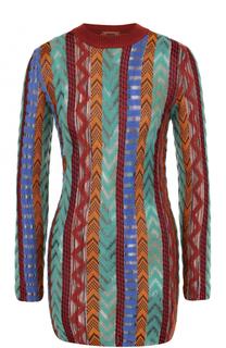 Удлиненный приталенный пуловер с длинным рукавом Missoni