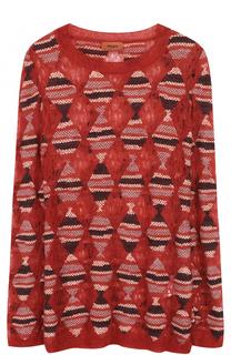 Удлиненный приталенный пуловер с круглым вырезом Missoni