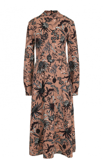 Приталенное платье-миди с воротником-стойкой Markus Lupfer