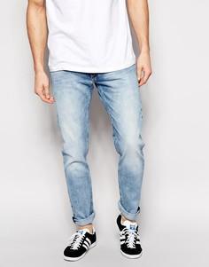 Мраморные джинсы скинни Lee Jeans Luke - Синий