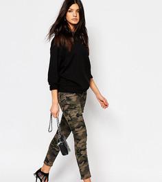 Зауженные брюки карго с акцентными молниями на уровне щиколотки Northmore - Зеленый