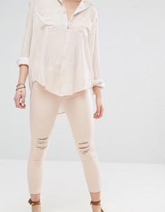 Укороченные зауженные джинсы Vero Moda Petite - Кремовый