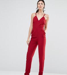 Комбинезон с глубоким вырезом True Decadence Tall - Красный