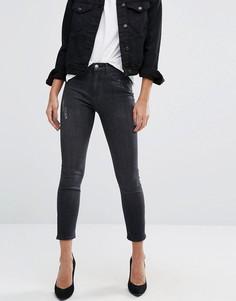 Зауженные черные тертые джинсы River Island Lori - Черный