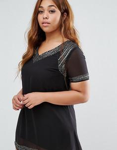 Платье с отделкой AX Paris Plus - Черный