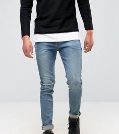 Синие выбеленные джинсы скинни ASOS TALL - Синий