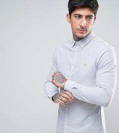 Серая оксфордская рубашка скинни эксклюзивно для Farah - Серый