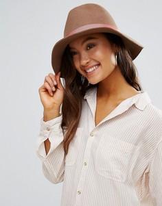Фетровая шляпа с розовой отделкой Genie by Eugenia Kim Florence - Бежевый