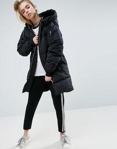 Длинный бомбер adidas - Черный
