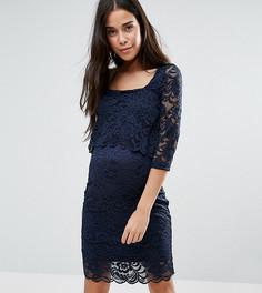Кружевное платье для кормящих мам Mamalicious - Темно-синий Mama.Licious