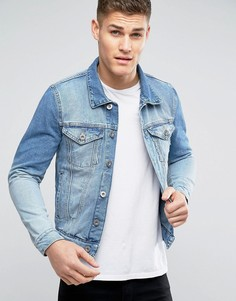 Голубая джинсовая куртка River Island - Синий