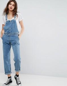 Синий выбеленный джинсовый комбинезон ASOS - Синий
