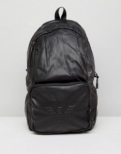 882dfcf00f80 Черный рюкзак из искусственной кожи с логотипом Armani Jeans - Черный