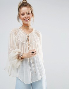 Блузка с манжетами Free People Dream - Белый