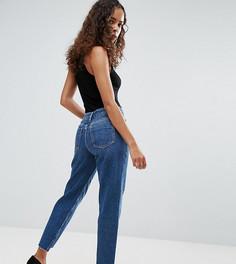 Выбеленные джинсы в винтажном стиле с асимметричными кромками ASOS PETITE ORIGINAL - Синий