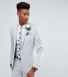 Пиджак скинни с принтом на подкладке ASOS TALL Wedding - Серый