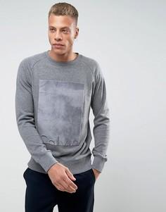 Свитер с меховой вставкой Calvin Klein - Серый