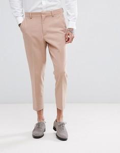 Светло-розовые зауженные брюки ASOS Wedding - Розовый