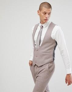 Приталенный жилет с добавлением шерсти ASOS - Серый