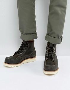 Темно-серые кожаные ботинки Red Wing 6 Inch Classic - Черный