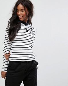 Полосатая футболка со смайлом Lazy Oaf - Мульти