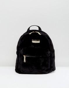 Черный рюкзак с искусственным мехом Claudia Canova - Черный