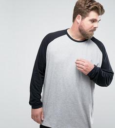 Серая с черным футболка Jacamo PLUS - Серый