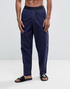 Тканые штаны для дома в клетку Calvin Klein - Темно-синий