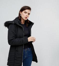 Приталенное пальто с молнией Brave Soul Tall - Черный