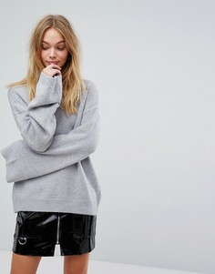 Джемпер с широкими рукавами и ремешками на спине Fashion Union - Серый