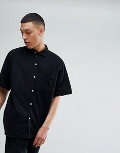 Черная джинсовая рубашка Weekday Solo - Черный