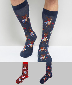 2 пары новогодних носков Urban Eccentric - Мульти