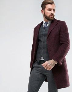 Однобортное пальто из ткани букле Gianni Feraud - Красный