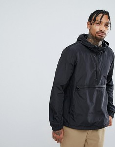 Черная ветровка-пуловер с молнией ASOS - Черный