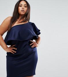 Платье мини на одно плечо Club L Plus - Темно-синий