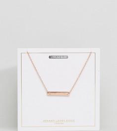 Ожерелье с покрытием из розового золота и буквой C на подвеске Johnny Loves Rosie - Золотой
