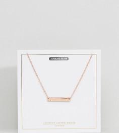 Ожерелье с покрытием из розового золота и буквой J на подвеске Johnny Loves Rosie - Золотой